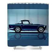 Triumph Tr5 1968 Painting Shower Curtain
