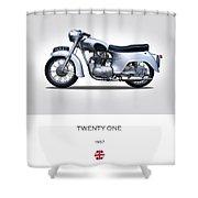 Triumph Twenty One 1957 Shower Curtain