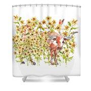 Trivia Too A Texas Longhorn Sunflowers Lh072 Shower Curtain