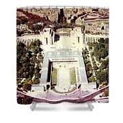 Trocadero Palais De Chaillot 1955 Shower Curtain