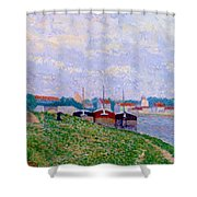 Trois P Niches Amarr Es Aux Abords D Une Ville Industrielle 1886 Shower Curtain