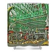 Trolley Convoy Shower Curtain