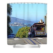 Trolley Descending Into San Francisco Shower Curtain