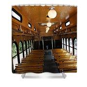 Trolley Interior Shower Curtain