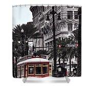 Trolley On Bourbon And Canal  Shower Curtain