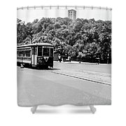 Trolley With Cloisters Shower Curtain