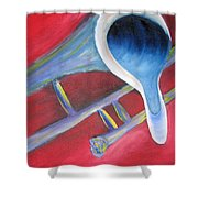 Trombone Shower Curtain