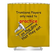 Trombones Practice When They Eat Shower Curtain