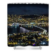 Tromso By Night Shower Curtain
