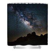 Trona Pinnacles Galactic Core Shower Curtain