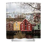 Trondheim Colors Shower Curtain