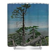 Troodos Mountain  Shower Curtain
