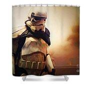 Trooper Landscape Shower Curtain
