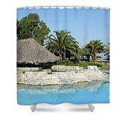 Tropic Bar Vacation Summer Scene Shower Curtain