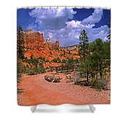 Tropic Canyon Bridge In Bryce Canyon Np Utah Shower Curtain
