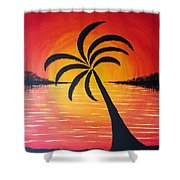 Tropic Of Palms Shower Curtain