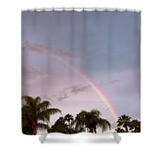 Tropic Rainbow In Florida Shower Curtain