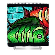 Tropic Swim Shower Curtain