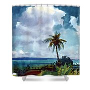 Tropical Afternoon Shower Curtain