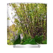 Tropical Bamboo Shower Curtain