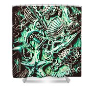 Tropical Bay Elements Shower Curtain