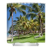 Tropical Beach I. Mauritius Shower Curtain