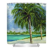 Tropical Beach Two Shower Curtain