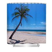 Tropical Blue Skies And White Sand Beaches Shower Curtain