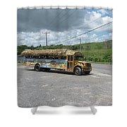 Tropical Bus Shower Curtain
