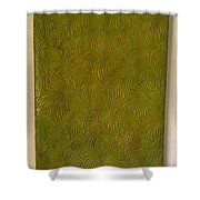 Tropical Palms Canvas Green - 16x20 Hand Painted Shower Curtain