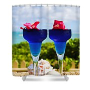 Tropical Cocktails Shower Curtain