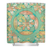 Tropical Color Abstract Shower Curtain