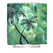 Tropical Dance 3 By Madart Shower Curtain