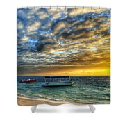 Tropical Dawn Shower Curtain