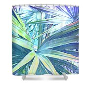 Tropical Dreams In Pastel Purple-blue Shower Curtain