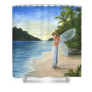 Tropical Fairy Shower Curtain