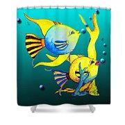 Tropical Fish Fun Shower Curtain
