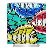 Tropical Fish Swim Shower Curtain