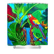 Tropical Flame Shower Curtain