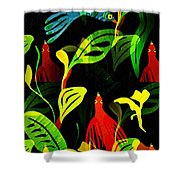 Tropical Flock Shower Curtain