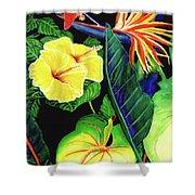 Tropical Flower Arrangement #251 Shower Curtain