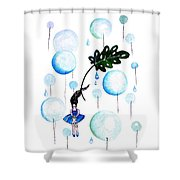 Tropical Fly Shower Curtain