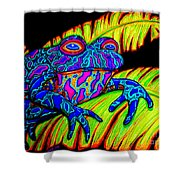 Tropical Frog Shower Curtain