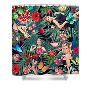 Tropical Fun Sexy  Shower Curtain