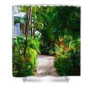Tropical Garden Passage Shower Curtain