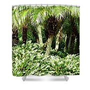 Tropical Green Shower Curtain