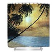 Tropical Grip Shower Curtain