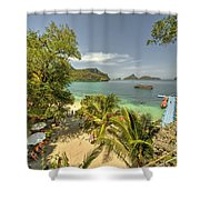 Tropical Harbour Shower Curtain