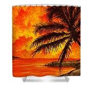 Tropical Heat Shower Curtain