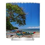 Tropical Island Panorama Paradise Shower Curtain